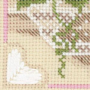 Riolis counted cross stitch Kit Raspberry Tea, DIY