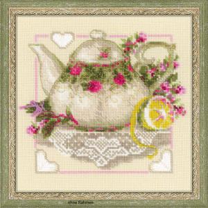 """Riolis Kreuzstich-Set """"Tee mit Zitrone"""",..."""