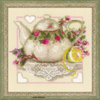 Riolis counted cross stitch Kit Tea With Lemon, DIY