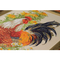 Riolis counted cross stitch Kit Rooster, DIY