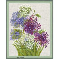 Riolis counted cross stitch Kit Allium, DIY