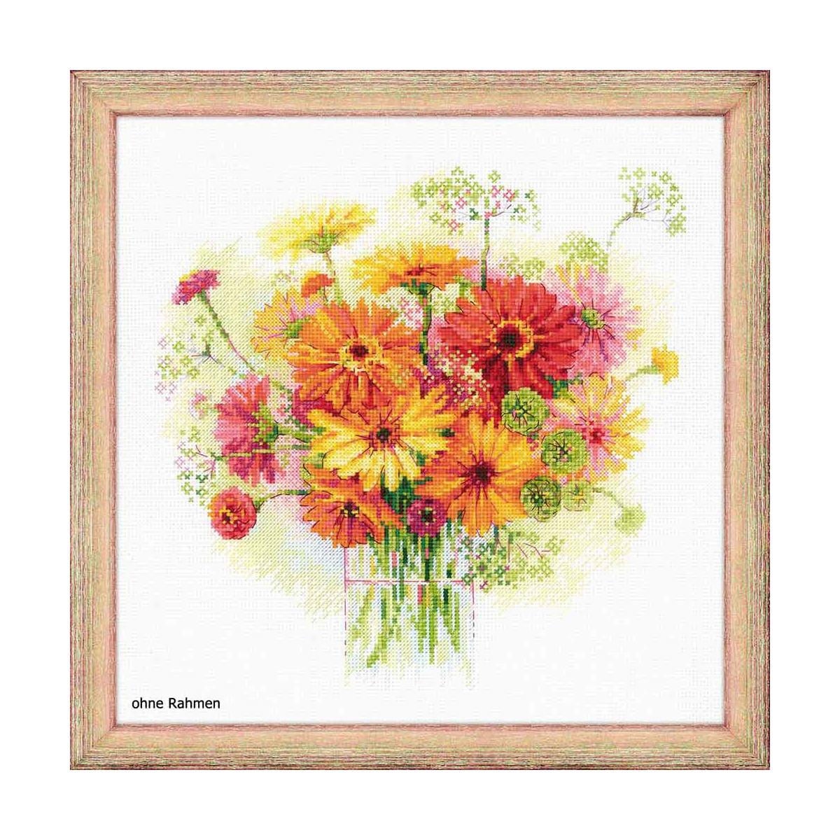 """Zählmuster Riolis Kreuzstich-Set /""""Tulpen in einer Vase/"""""""