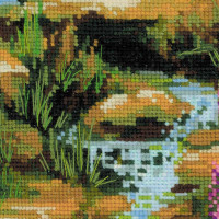 Riolis counted cross stitch Kit Mountain River, DIY