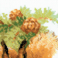 Riolis counted cross stitch Kit Squirrels, DIY