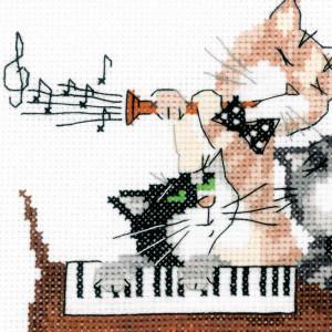 Riolis counted cross stitch Kit Dachshund Blues, DIY