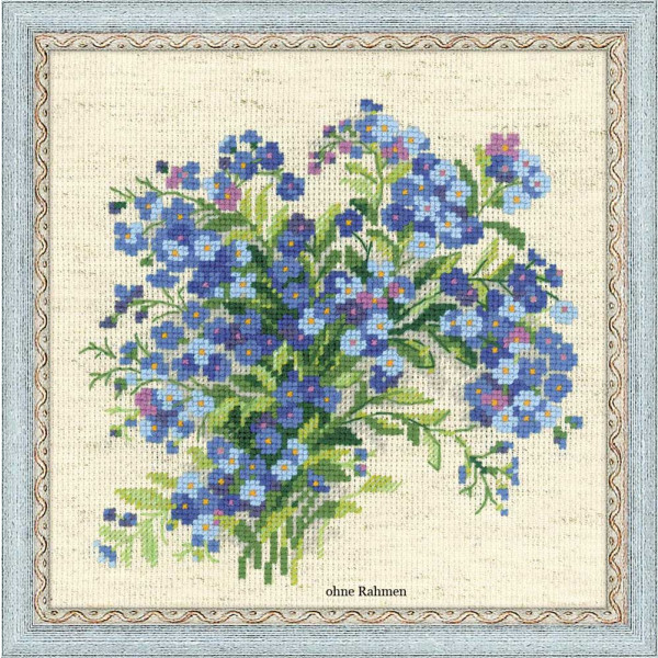 Riolis counted cross stitch Kit Forget Me Nots, DIY