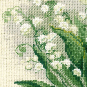 Riolis counted cross stitch Kit Lilly of the Valley, DIY