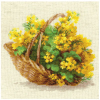 Riolis counted cross stitch Kit Yellow Rapeseed, DIY