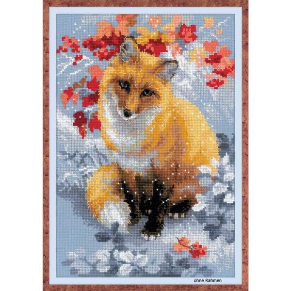 Riolis counted cross stitch Kit Fox, DIY