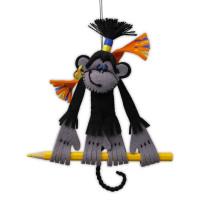 "Riolis cross stitch kit ""Charming Monkey"", counted, DIY"