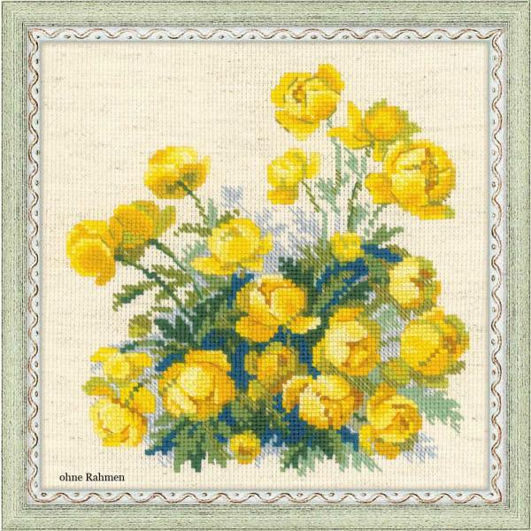 Riolis counted cross stitch Kit Globe Flower, DIY
