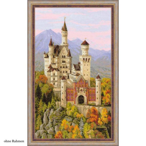 Riolis counted cross stitch Kit Neuschwanstein Castle, DIY