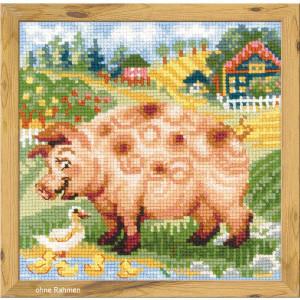 "Riolis Kreuzstich-Set ""Die Farm: Ferkel"",..."