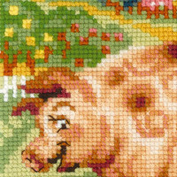 "Riolis Kreuzstich-Set ""Die Farm: Ferkel"", Zählmuster"