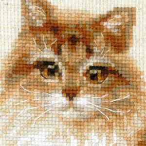 Riolis counted cross stitch Kit Pet Cat, DIY