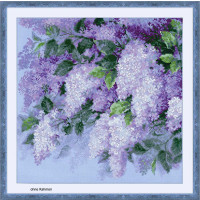 Riolis counted cross stitch Kit Lilacs after the Rain, DIY