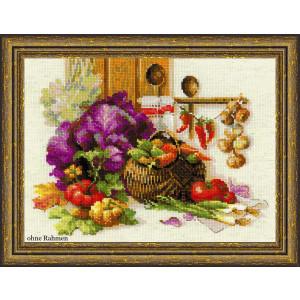 Riolis counted cross stitch Kit Rich Harvest, DIY