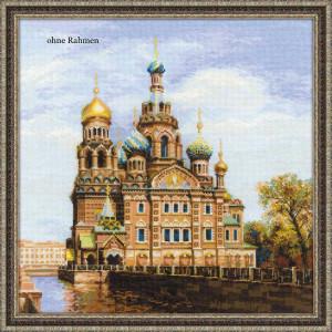 Riolis counted cross stitch Kit St. Petersburg. Church of the Savior on Blood, DIY