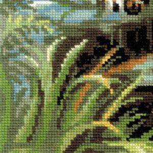 """Riolis Kreuzstich-Set """"Herrscher des Dschungels"""", Zählmuster"""