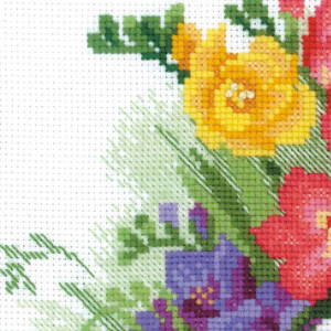 Riolis counted cross stitch Kit Freesia, DIY