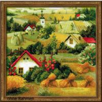 Riolis counted cross stitch Kit Serbian Landscape, DIY