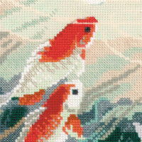 Riolis counted cross stitch Kit Dancing Fish, DIY