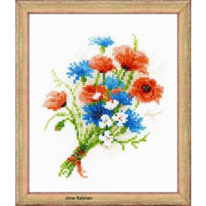 """Riolis Kreuzstich-Set """"Blumenstrauß mit..."""