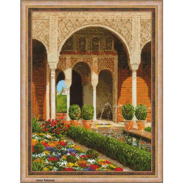 "Riolis Kreuzstich-Set ""Der Schlossgarten"", Zählmuster"
