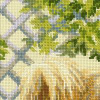 Riolis counted cross stitch Kit Pomeranian, DIY