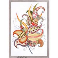 Riolis Stitch Kit Magic Feather, stamped, DIY