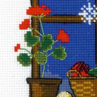 """Riolis Kreuzstich-Set """"Winterfenster"""", Zählmuster"""