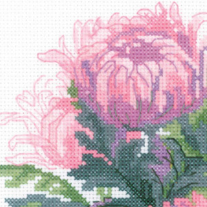 Riolis counted cross stitch Kit Bouquet of...
