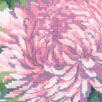 Riolis counted cross stitch Kit Bouquet of Chrysanthemums, DIY