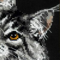 """Riolis Kreuzstich-Set """"Amerikanische Waldkatze"""", Zählmuster"""