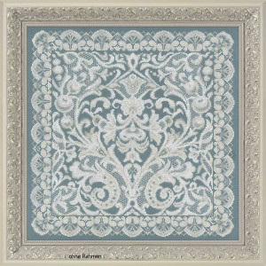Riolis counted cross stitch Kit Cushion/Panel Viennese...