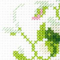 """Riolis Kreuzstich-Set """"Blumenstrauß mit süßen Erbsen"""", Zählmuster"""