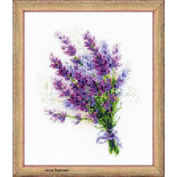 """Riolis Kreuzstich-Set """"Blumenstrauß mit Lavendel"""", Zählmuster"""