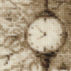 Riolis counted cross stitch Kit Old Photo. Waiting, DIY