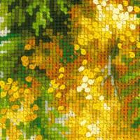 Riolis counted cross stitch Kit Mimosa, DIY