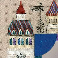 Riolis counted cross stitch Kit Photo frame Knights Castle, DIY