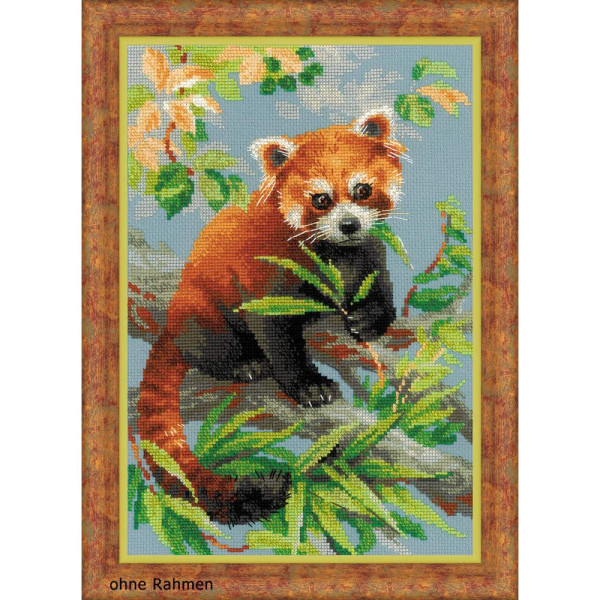 "Riolis Kreuzstich-Set ""Roter Panda"", Zählmuster"