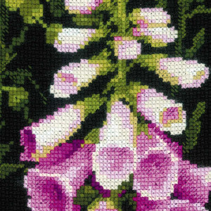 Riolis counted cross stitch Kit Foxgloves, DIY