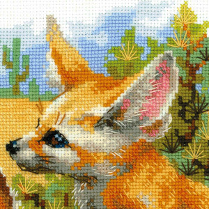 Riolis counted cross stitch Kit Desert Foxes, DIY