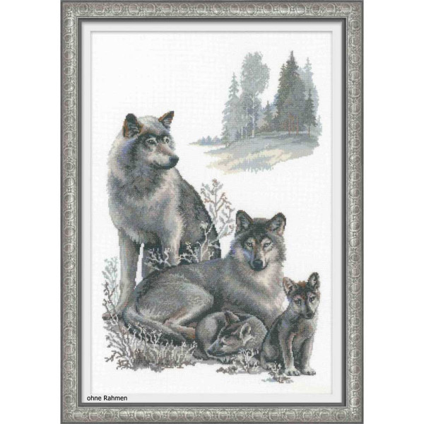 Riolis counted cross stitch Kit Wolves, DIY