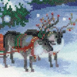 Riolis counted cross stitch Kit Christmas Eve, DIY
