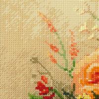 Riolis counted cross stitch Kit Tea Roses, DIY