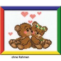 """Riolis Kreuzstich-Set """"Kleine Bären"""", Zählmuster"""