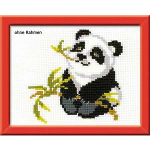 """Riolis Stickbildset Kreuzstich """"Panda"""",..."""