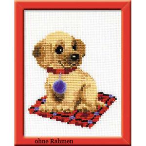 Riolis counted cross stitch Kit Puppy, DIY