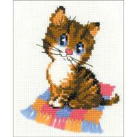 Riolis counted cross stitch Kit Kitten, DIY